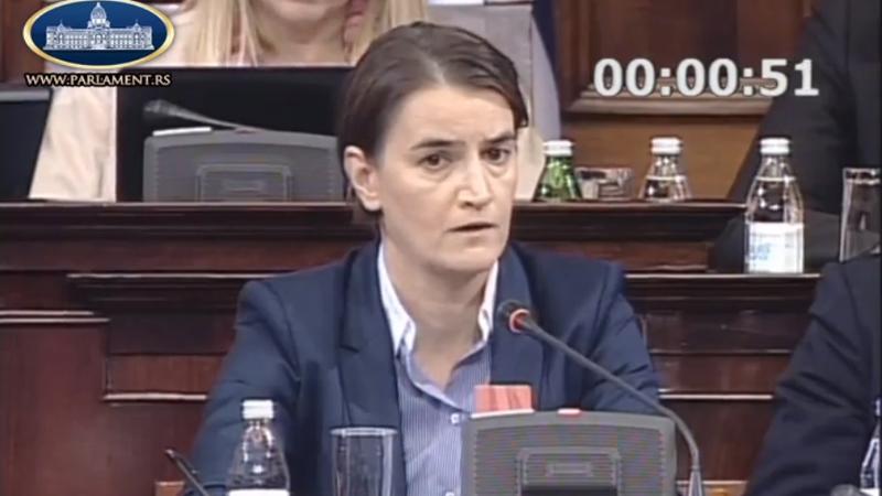 Премијерка Ана Брнабић, фото: Парламент ТВ